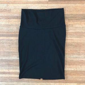 Liz Lange Stretch Black Pencil Skirt S